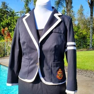 PINK Victoria's Secret Navy Blue Blazer - WT Trim